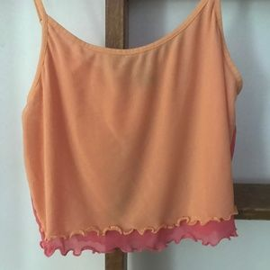 Out from Under Sheer Cropped Tank